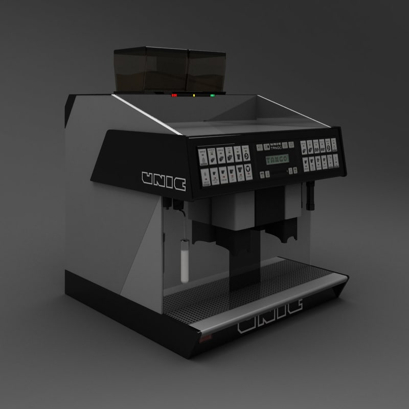3d espresso machine unic model. Black Bedroom Furniture Sets. Home Design Ideas