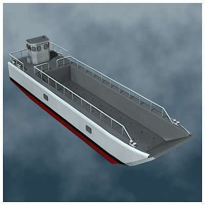 LCM Landing Craft Mechanized 3D Models
