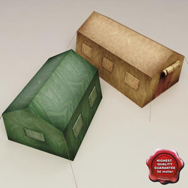 Military Tents V3 3D Models