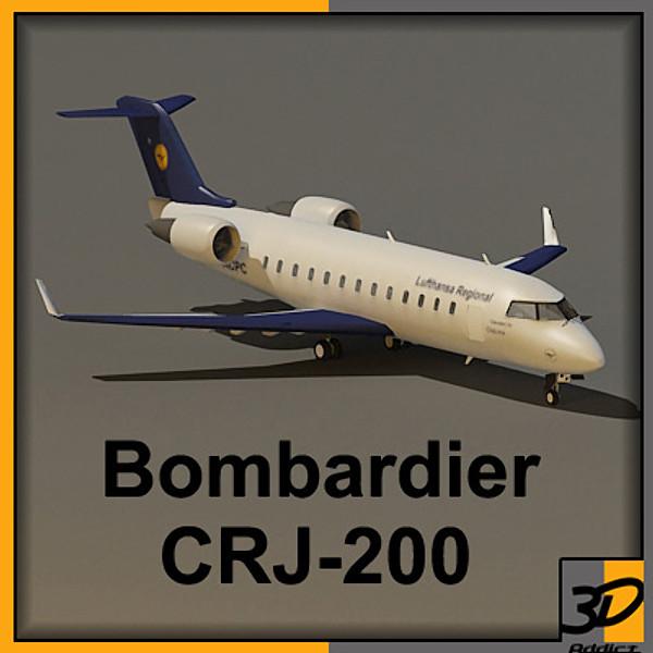Bombardier CRJ200 3D Models