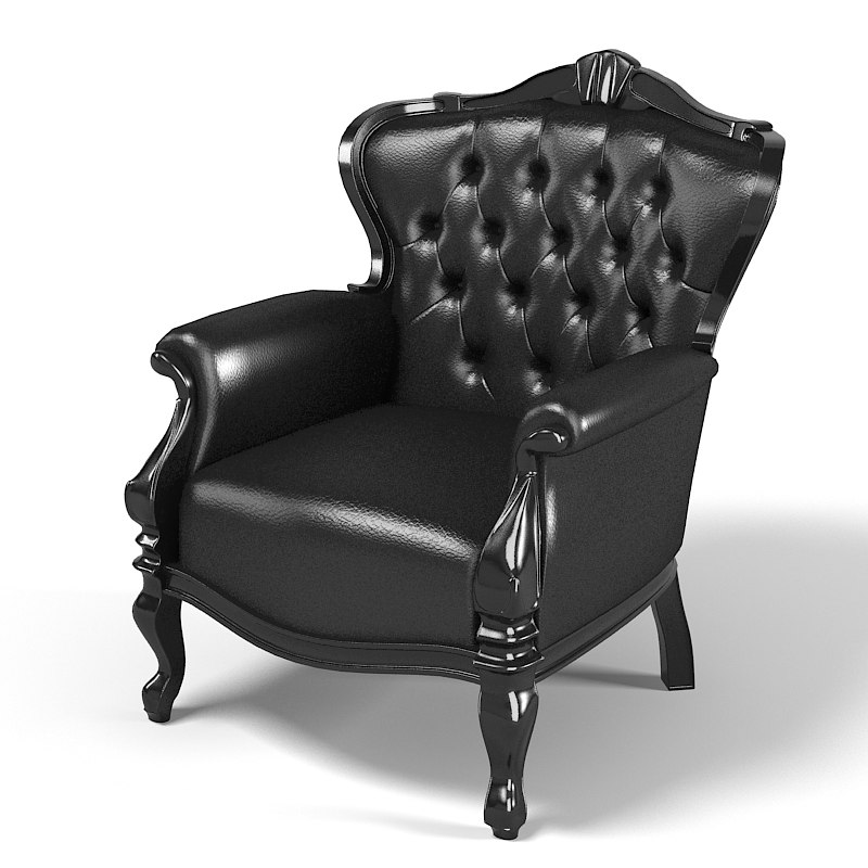 oscaritalia black designer classical classic tufted chair.jpg