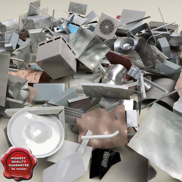 Metall debris 3D Models