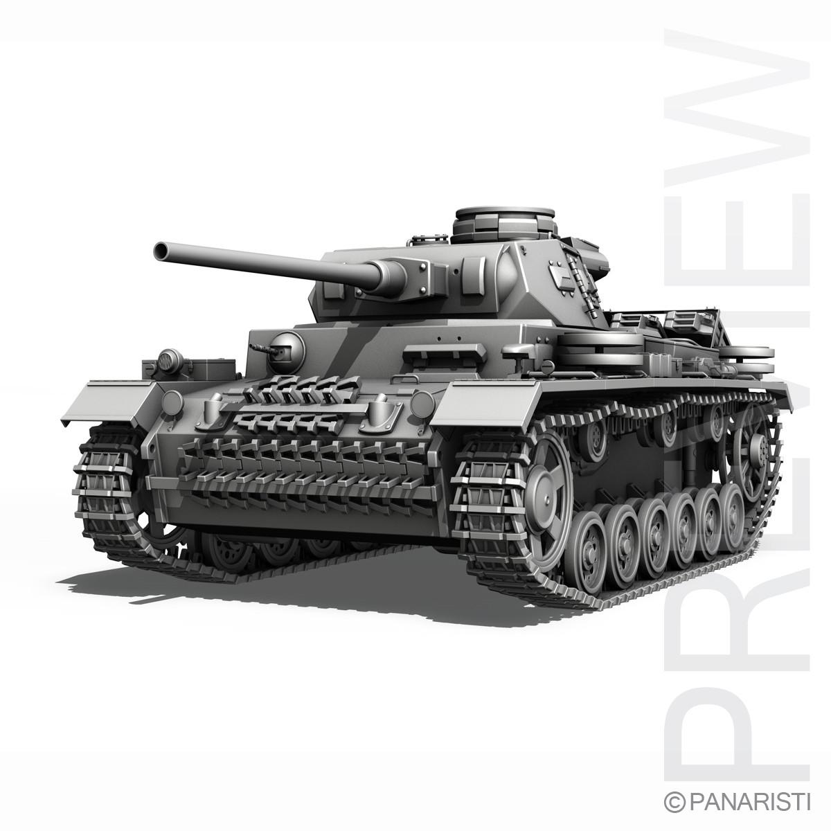 SD.KFZ 141 PzKpfw 3 - Panzer 3 Ausf.J