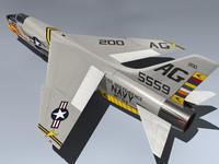 F-8 Crusader 3D models