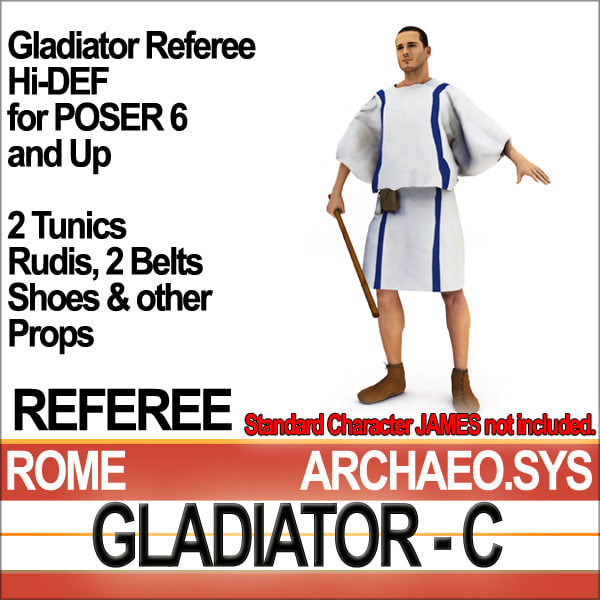 Props Set Poser Daz for Roman Gladiator Referee