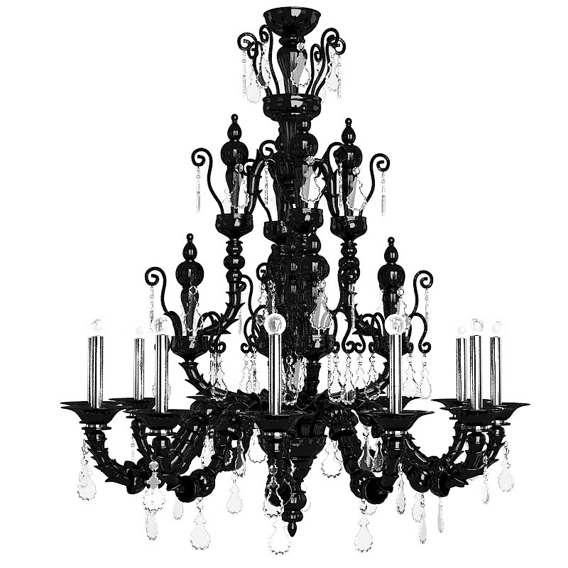 black classic crystal murano glass chandelier barovier toso