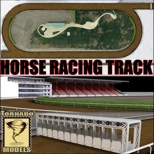 Horse Racing Track 3D Models