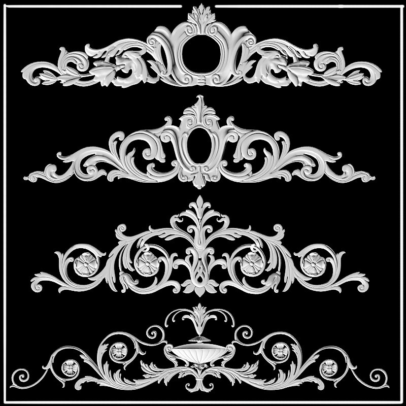 cartouches plaster decor ornament decoration building pediment fronton.jpg