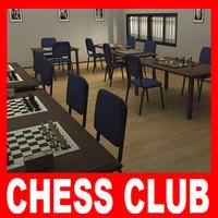 chess club 3D models