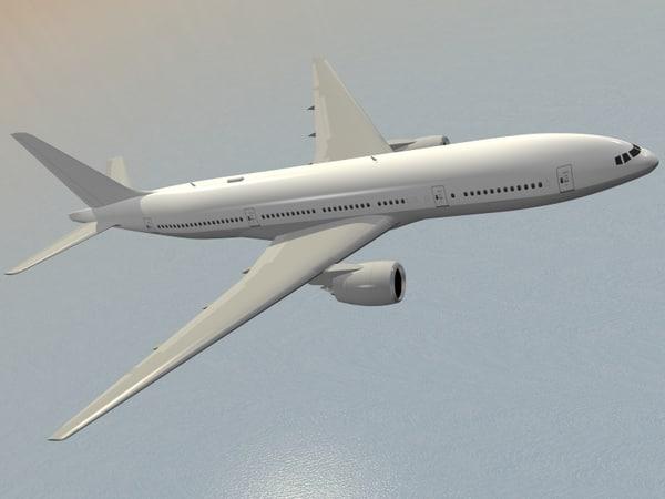 B 777-200 airplane 3D Models
