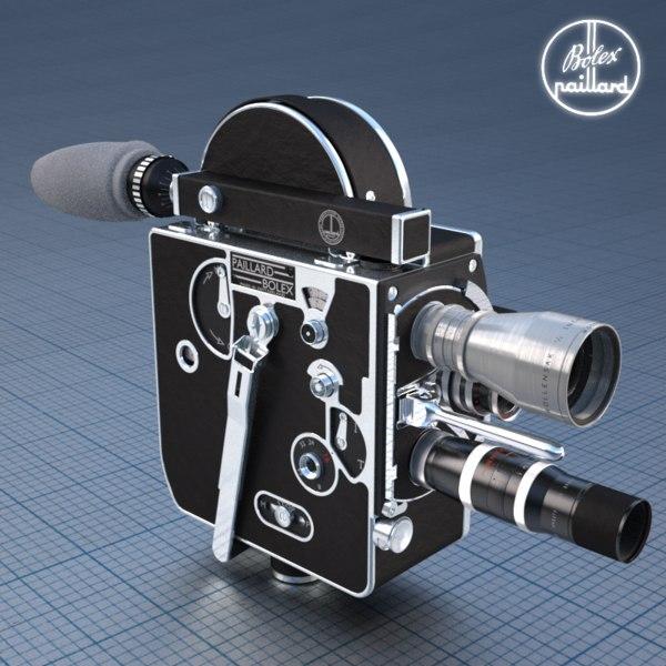 Bolex H16 Film Camera 3D Models