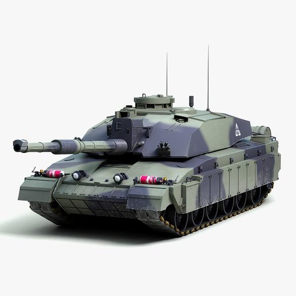 Challenger 2 MBT 3D Models