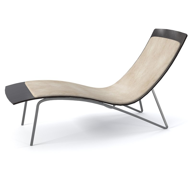 Chaise lounge modern 3d max for Chaise contemporary