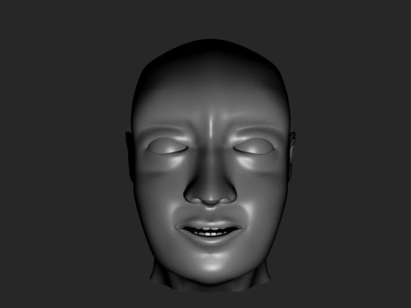 male head 3ds free