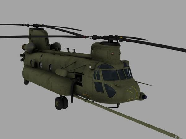 CH-47E SOA Chinook Game Ready Model 3D Models