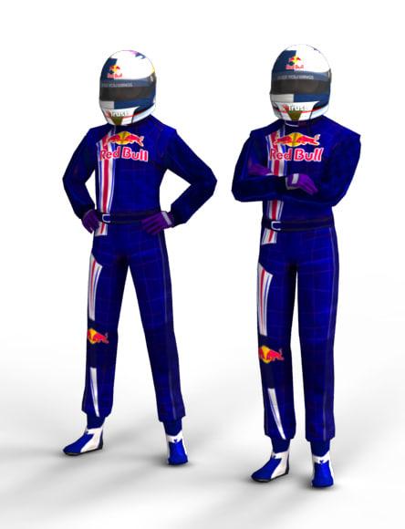 F1 Driver Sebastian Vettel 3D Models