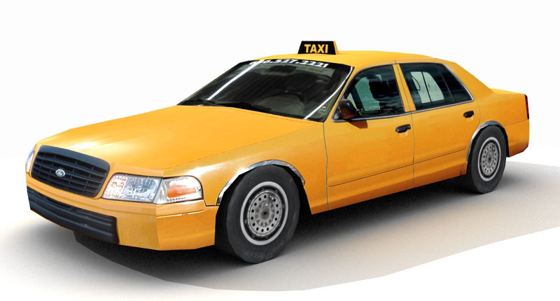 Taxi Low Poly