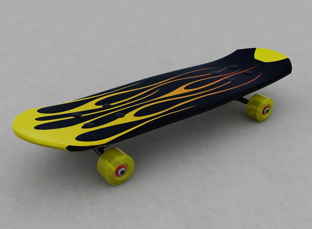 3d model skate board skateboard - Skateboard mobel ...