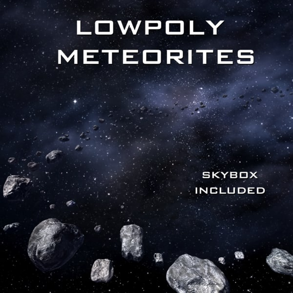 Meteorites (Lowpoly) Materials & Shaders