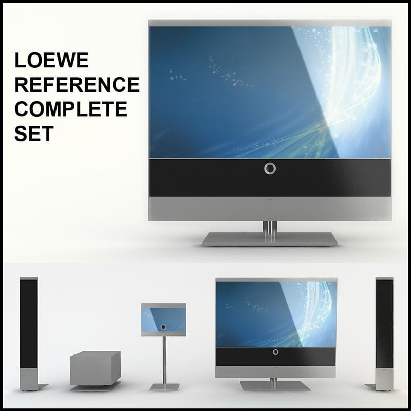 loewe 3d models. Black Bedroom Furniture Sets. Home Design Ideas