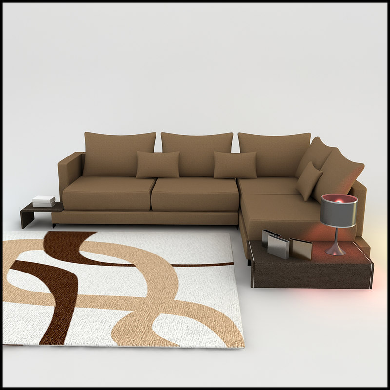 Corner Sofa Room Designs: 3d Model Of Corner Sofa Designs