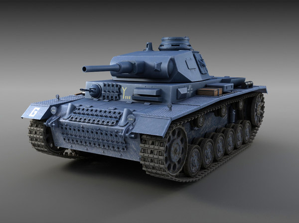 Panzer III Ausf. F 3D Models