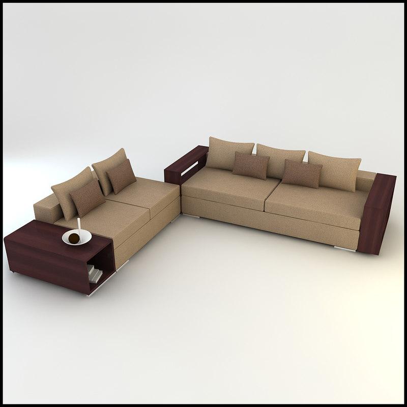 3d corner sofa designs model for 3d decoration models