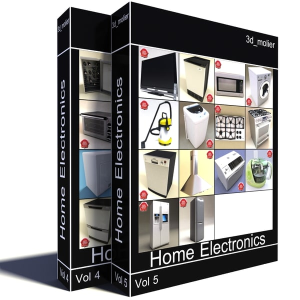 Home Electronics Collection V6 3D Models