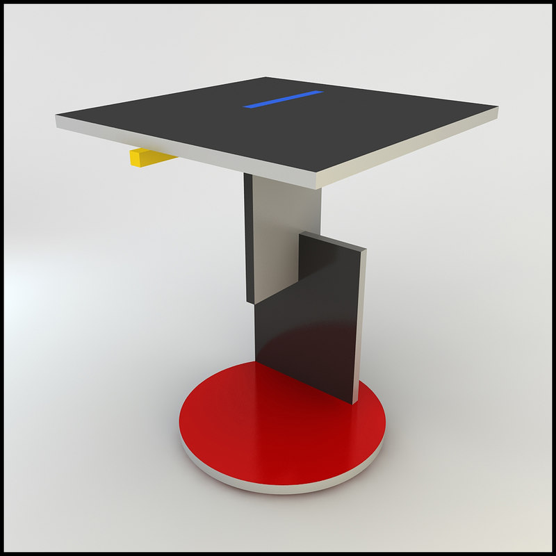 3dsmax gerrit rietveld schroeder table. Black Bedroom Furniture Sets. Home Design Ideas