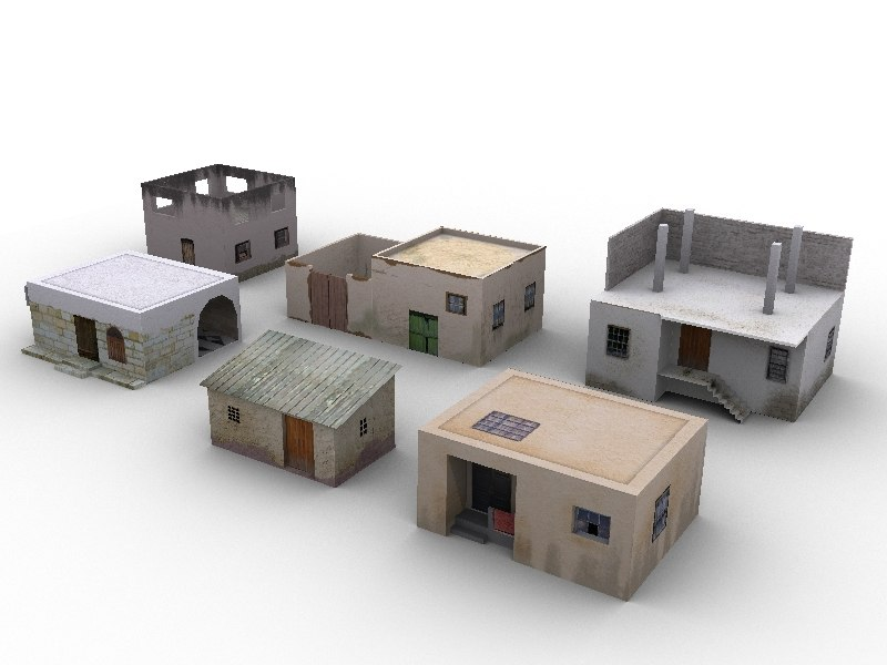 arabic houses low poly