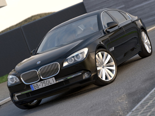 BMW 7-series Long (2009) 3D Models