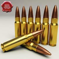 7.62x39 cartridge 3D models