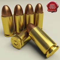 .45 ACP cartridge 3D models