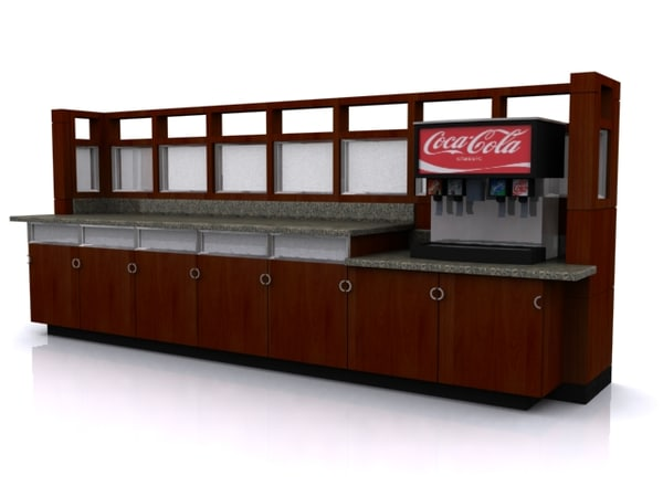 Beverage Station 3D Models