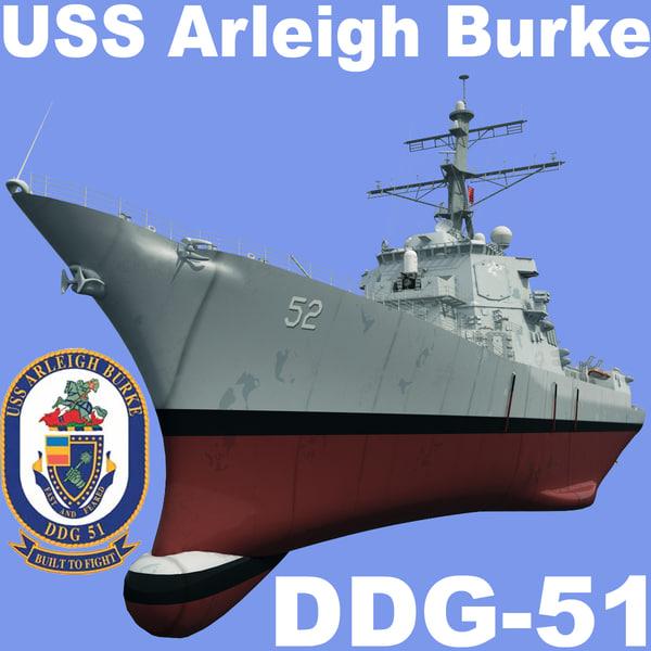 USS Arleigh Burke DDG-51 3D Models