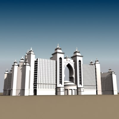 Atlantis, The Palm - Dubai 3D Models