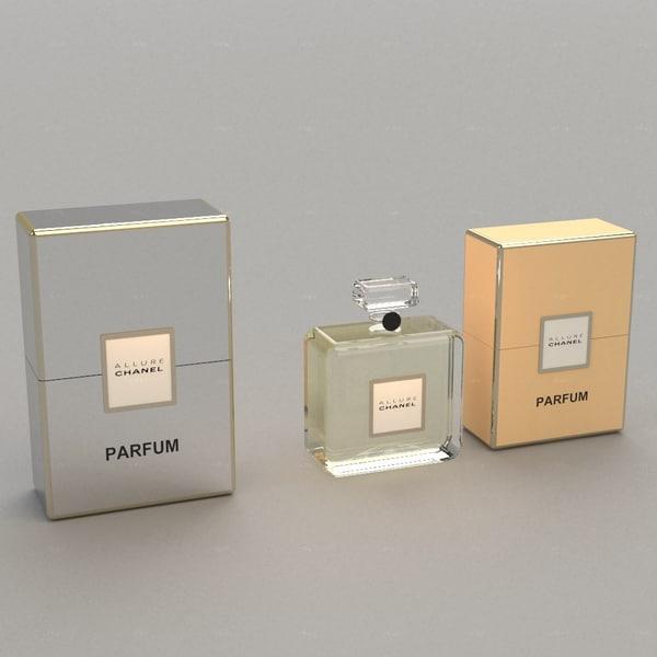Parfum Allure Chanel 3D Models