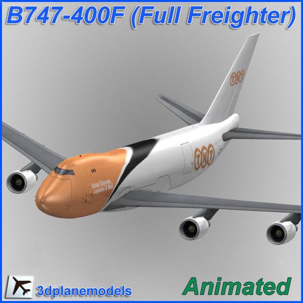 B747-400F TNT 3D Models
