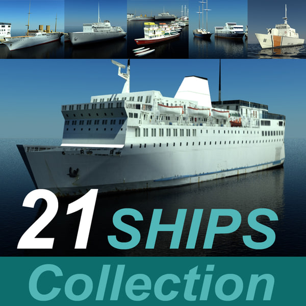 21 ship model collection 3D Models