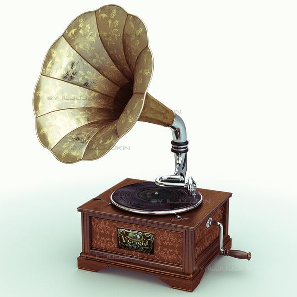 Gramophone 3D Models
