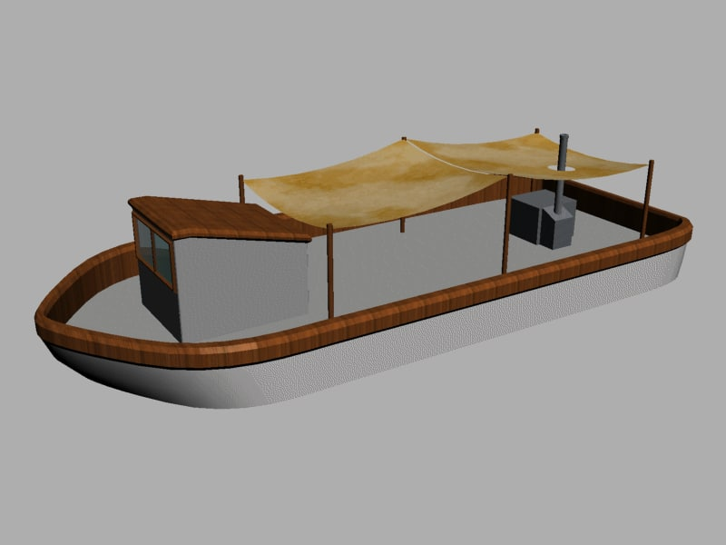 Low Poly River Boat