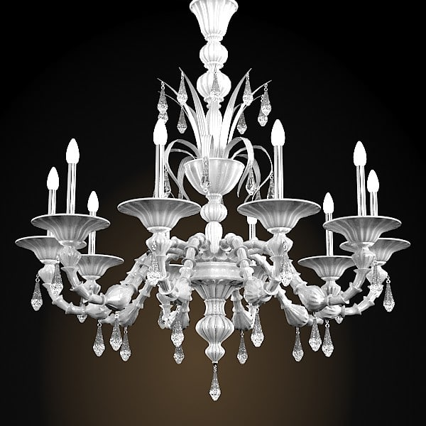 murano glass de majo 6099/k10   crystal classic chandelier barovier toso 3D Models