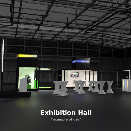 3d Exhibition Hall : D exhibition models max ds obj fbx dxf