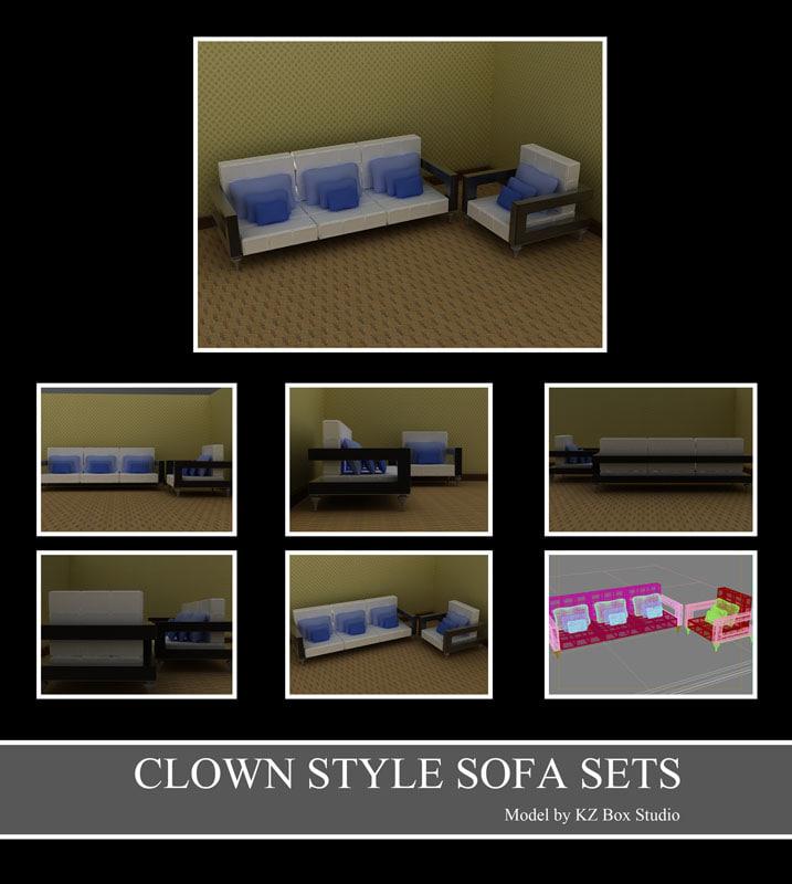 50022 Clown Arm Sofa Sets