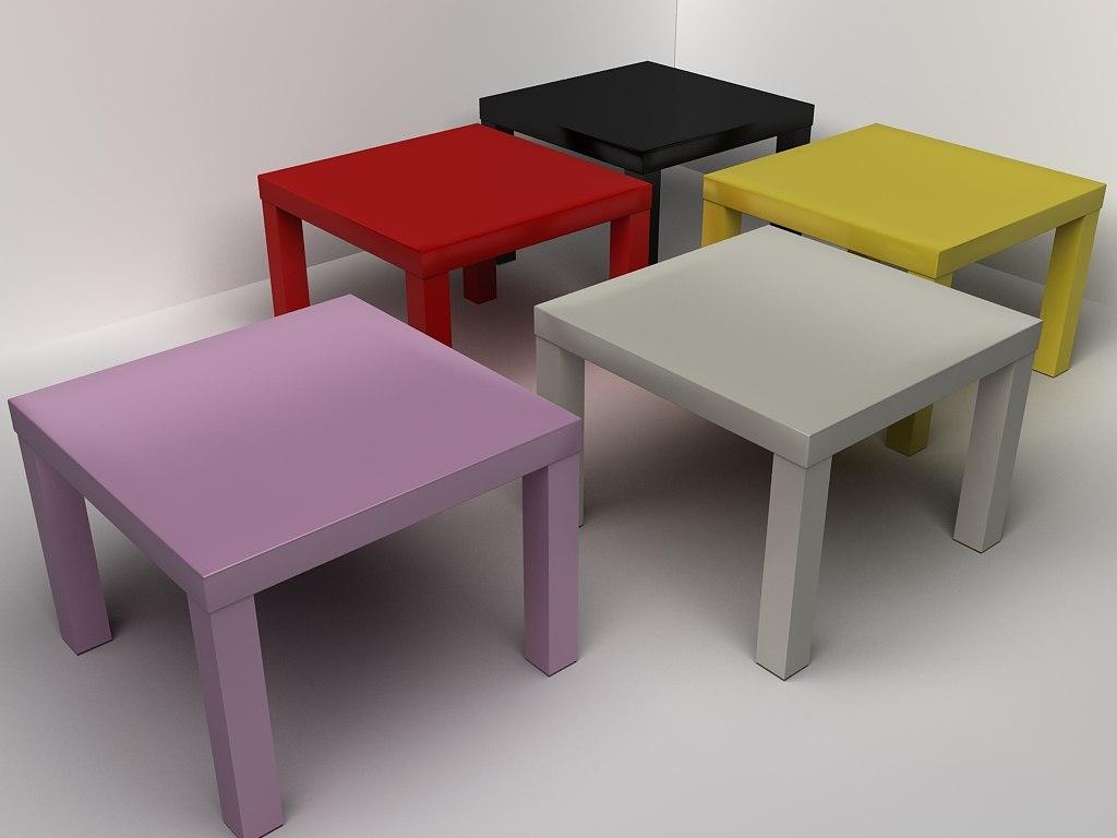 Ikea Coffee Table 3d Model