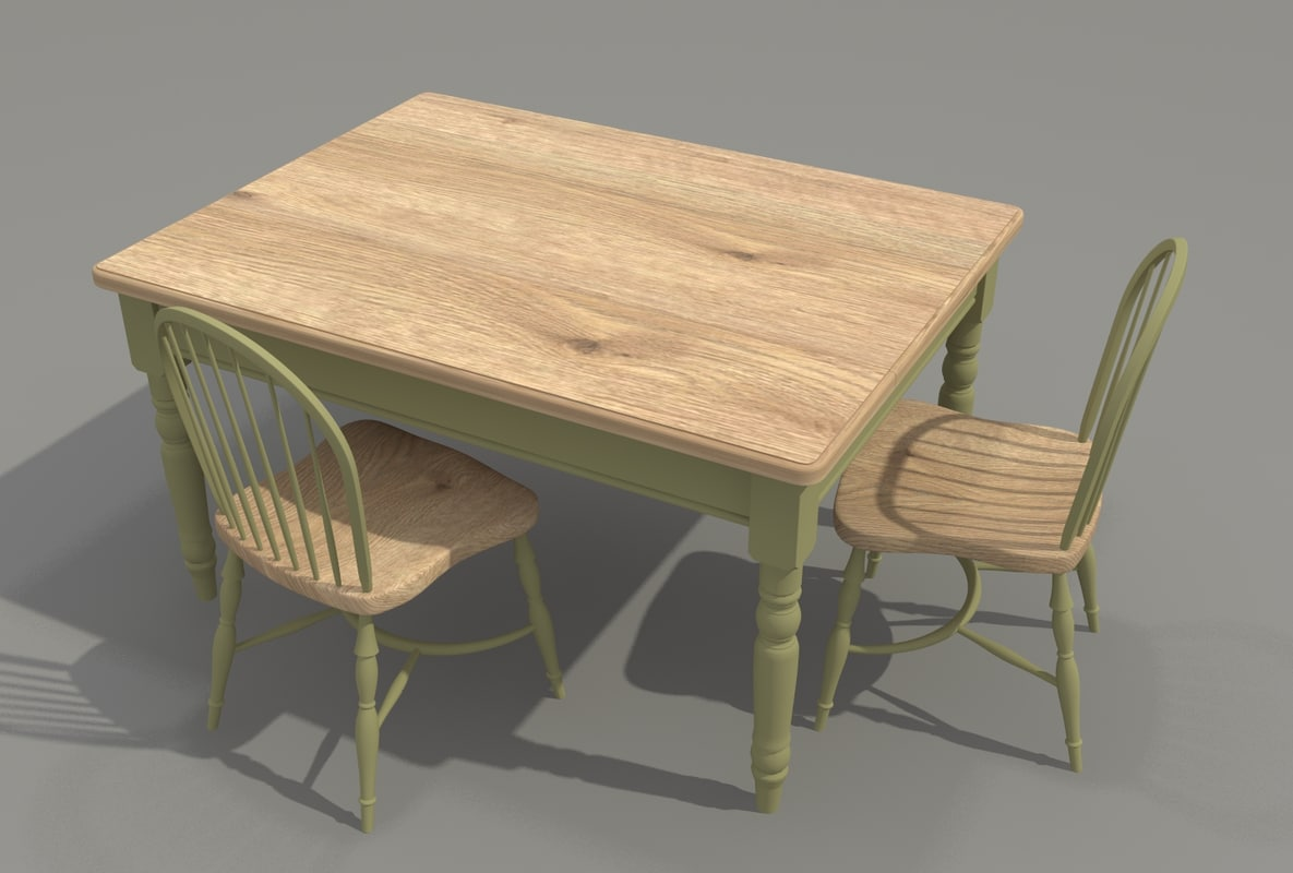 Farm Style Kitchen Table Dwg File
