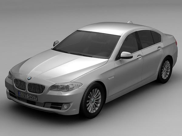 2010 BMW 5 Series 3D Models