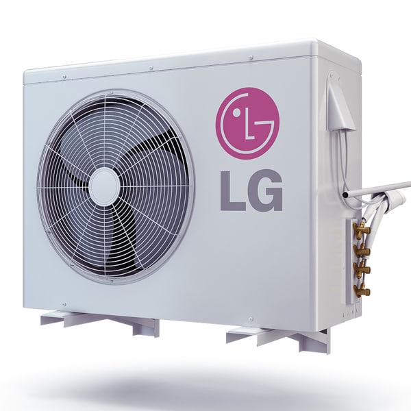 Air Conditioner LG LMU185HV 3D Models