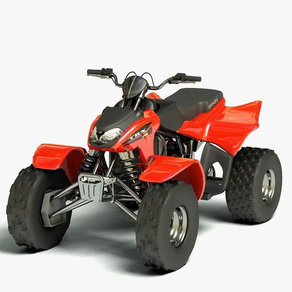 Honda TRX 450R 3D Models