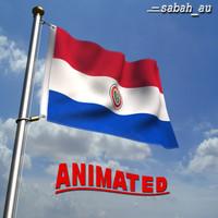 paraguay flag 3D models